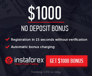 Get % bonus on your first deposit at InstaForex.. To get this bonus, you have to open a trading account, make a deposit, fully verify your account and then apply for the bonus.